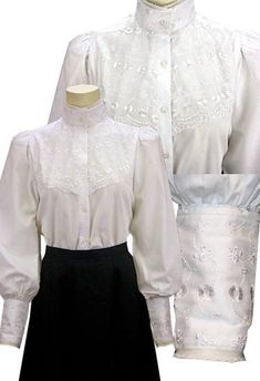 Edwardian Blouses Stunning Victorian 3 color options