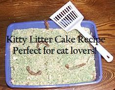 Kitty Litter Cake Recipe: Trust Me, It Tastes A Lot Better Than It Looks - Mommy of a Monster & Twins Just Desserts, Delicious Desserts, Yummy Food, Holy Cow Cakes, Kitty Litter Cake, White Trash Party, Weird Food, Easy Cake Recipes, How To Make Cake