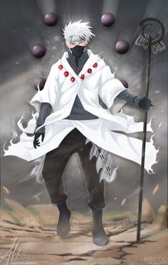 FANART NARUTO: Kakashi, (Rikudo Mode) by ArgyraChersonese.deviantart.com on @deviantART