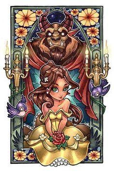 La belle et la bête : tim shumate illustration princesses disney #illustration…