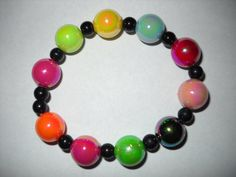Rainbow Iridescent Stretch Bracelet by danielleh08 on Etsy, $5.00