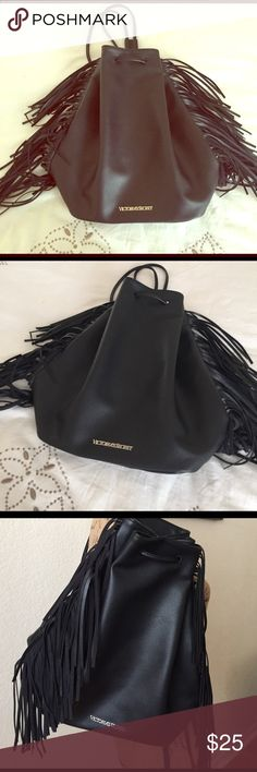 BLACK BACK PACK/Shoulder Bag VICTORIA SECRET❤️💕 Cute black BACK pack Victoria secret used once all great condition❤️💕 Victoria's Secret Bags Backpacks