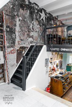 It's my visual life - Paulina Arcklin: Amsterdam Industrial Living, Rustic Industrial, Urban Rustic, Interior And Exterior, Interior Design, Retail Interior, Amsterdam Shopping, Café Bar, Lokal