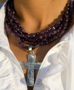 love amethyst and the cross