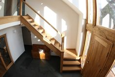 Buy stair parts online, handrails spindles,balustrade and rails. Space Saving Staircase, Loft Staircase, Timber Staircase, Oak Stairs, Stair Railing, Staircase Design, Staircase Glass, Staircase Manufacturers, Bespoke Staircases