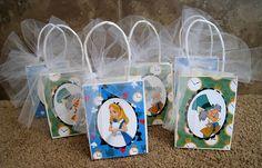 Disney Alice in Wonderland Party Favor Bags  Set of Six