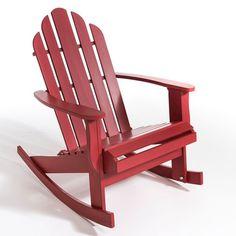Le rocking-chair, style Adirondack, Théodore. Un dossier haut et incurvé, une assise basse et de larges accoudoirs... le légendaire fauteuil Adirondack s'offre une version à bascule !Caractéristiques : - En acacia brut à peindre ou laqué finition polyuréthane                - Prêt à monter, notice jointe.                Dimensions : - L70 x H97 x P92 cm.                            - Assise : L50 x H37,5 x P44 cm.Dimensions et poids du colis : - L116 x H22 x P74 cm, 11 kgLivraison chez vo...