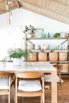 Winery Way — Pure Salt Interiors Home Design, Interior Design, Bungalow Interiors, Living Room Kitchen, Dining Rooms, Kitchen Nook, Dining Tables, Kitchen Decor, Beach Bungalows