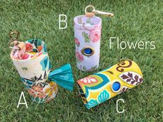 Dog Poop bags dispenser /waste bag holder Flowers by QTPET on Etsy Fusible Interfacing, Cat Hair, Dog Harness, Your Dog, Pup, Dogs, Handmade, Crafts, Flowers