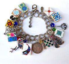 MURTOSA Charm Bracelet  by Atrio on Etsy,