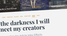 Article Intro Effects