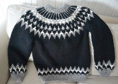 Ravelry: Lopi sweater (Iceland) pattern by Susanne Pagoldh Fair Isle Knitting Patterns, Sweater Knitting Patterns, Knitting Designs, Nordic Pullover, Nordic Sweater, Boys Sweaters, Sweaters For Women, Knit Slippers Free Pattern, Icelandic Sweaters