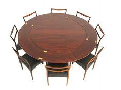 Amazing rosewood flip flap table!  MANUFACTURER: Dyrlund