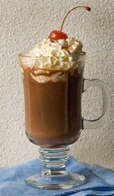Gluten Free Black Forest Hot Chocolate
