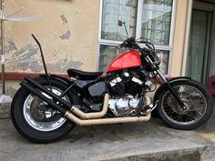 Xv250 yamaha virago Yamaha Virago, Virago Cafe Racer, Honda Bobber, Bobber Motorcycle, Bobber Chopper, Custom Motorcycles, Custom Bikes, Cars And Motorcycles, Biker Love