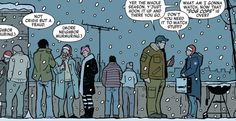 From Hawkeye vol. 4 #6: Clint Barton talks with his neighbour.