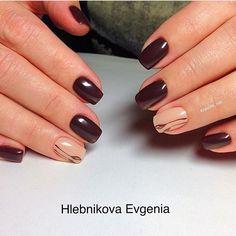 Autumn nail shellac, Autumn nails with a pattern, Fall nail ideas, Fall nails 2016, Fall nails ideas, Festive maroon nails, Maroon nails, Medium nails