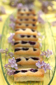 blueberry macadamia financiers