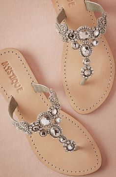 Sparkly sandals? Yes, please!