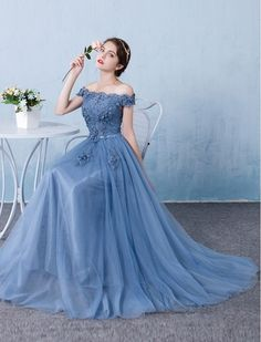 50s Vintage Style Romantically Yours Off Shoulder Evening Prom Dress