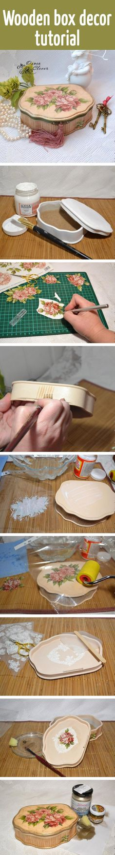 Wooden box decor tutorial