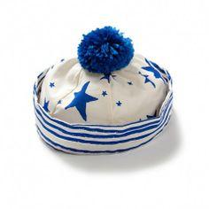 Noe & Zoe kids sailor hat (blue stars & stripes)