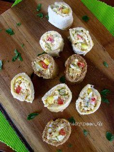 Εύκολα ρολάκια με ψωμί του τοστ και αυγοσαλάτα • sundayspoon