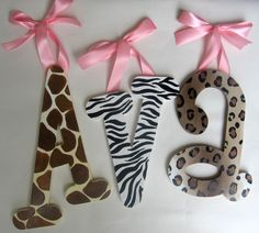 I love these especially since i want to do our little girls room when we have one an animal print.