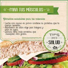 Alimentos saludables para tus músculos. #TipsExpres #Salud