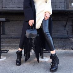 Let`s rock! Black and white outfit! #inspiration # fashion #streetstyle #photography