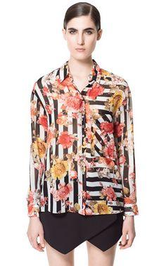 PRINTED BLOUSE - Shirts - Woman - ZARA United States
