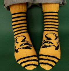 Hurray Hufflepuff is the part of my quartet of socks that are my tribute to the Houses of Hogwarts.