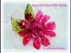 Recycled Pop Bottle Flower. Published on Apr 2, 2012.Just one way to recycle your 2 liter pop bottles and use them to make beautiful flowers for your scrapbooking or paper crafts =)