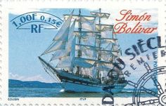 Briefmarke-Europa-Westeuropa-Frankreich-0.15-1999-Simón Bolívar
