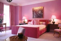 Dark Pink Bedroom Decor With Bed Ideas Designs Design