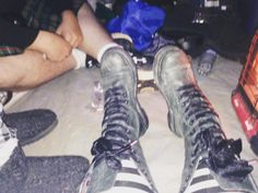 Happiness is warm feet #docmartens #texasrenaissancefestival