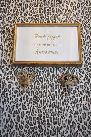 """design dump: diy """"awesome"""" gold embossed sign"""
