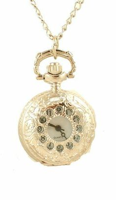 """Women's Satin Finish Silver-tone Covered Pendant Watch w/ Chain swiss hunter. $10.99. Arrives Gift Boxed. White Dial with Elegant Black Numbers. Beautifully Designed Silver-Tone Pendant Watch. Includes 28"""" Chain"""