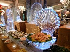 This Friday's Pinspiration comes from this creative seafood ice scultpure. We love ice sculptures because they can be made to compliment any event theme.
