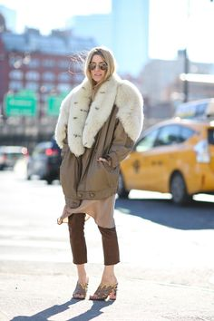 Lessons In Layering From The Streets Of New York City #refinery29  http://www.refinery29.com/2016/02/103173/ny-fashion-week-fall-winter-2016-street-style-pictures#slide-14  The bigger sleeves the...warmer you are?...