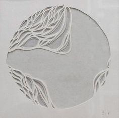 Gianna Paniagua - Microscopic Series 1; Handcut Rives BFK and Rice Paper