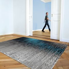 Tapis laine coral gris et bleu arte espina - Tapis Cosy Blue Rooms, Carpet Colors, Contemporary Rugs, Abstract Rug, Plain Rugs, Flat Weave Rug, Rugs, Modern Prints, Contemporary Rug