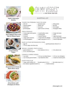 Vegetarian meal, Shopping lists and Paella on Pinterest