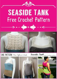 Seaside Tank Free Crochet Pattern - 110+ Free Crochet Patterns for Summer and Spring - Page 3 of 12 - DIY & Crafts
