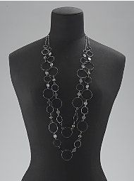 Two Strand Circles Necklace