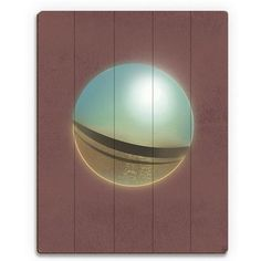 """Click Wall Art Reflecting Sphere Graphic Art on Plaque Size: 30"""" H x 20"""" W x 1"""" D"""