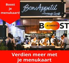 Workshop Boost je menukaart!, via www.boostjeomzet.nl. In deze workshop leer je tips en trucs waardoor je meer gaat verdienen aan je menukaart. Geschikt voor groepen van 10 horeca ondernemers Broadway Shows