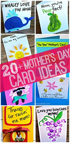 Here are a ton of homemade Mother's Day cards and crafts that kids can make! Moms will love these meaningful gifts!
