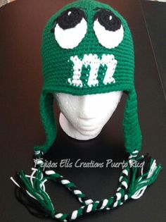 Crochet  Character Beanie by TejidosElisCreations on Etsy, $20.00