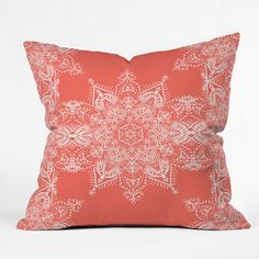 Lisa Argyropoulos Enchanted Soul Coral Throw Pillow | DENY Designs Home Accessories